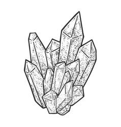 Crystal sketch vector