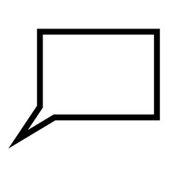 dialogue signs rictangle form vector image