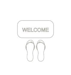 Door mat welcome vector