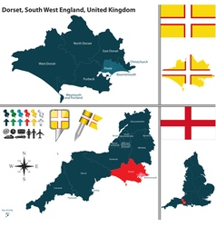 Dorset South West England vector