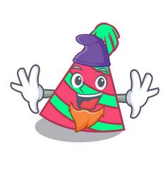 Elf party hat character cartoon vector
