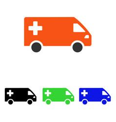 emergency van flat icon vector image