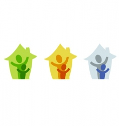Family home icon vector