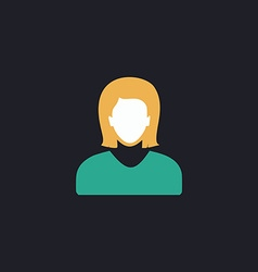 Female user computer symbol vector image