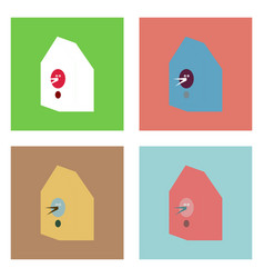 Flat icon design collection bird house vector