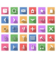 Flat icon set collection with long shadow vector