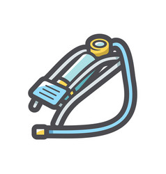 Foot pump equipment icon cartoon vector