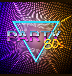 Futuristic background 80s style party flyer vector