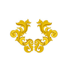 golden baroque ornament luxurious pattern in vector image