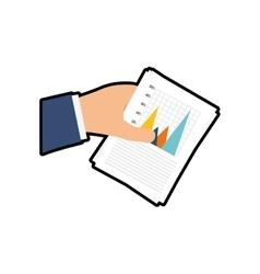 Hand infographic document icon graphic vector