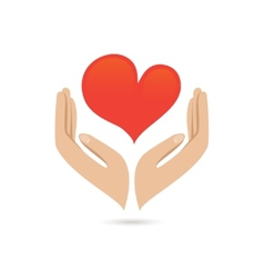 Hands love protect poster vector image