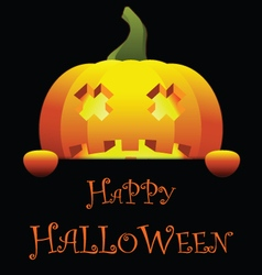 Happy halloween with isolated pumpkin vector