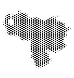 Hex-tile venezuela map vector