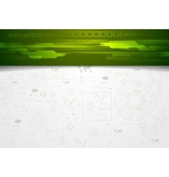 Hi-tech corporate background with green header vector image vector image