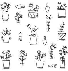 Item garden spring of doodles vector image