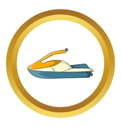 Jet ski icon vector