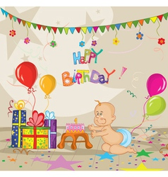 kids birthday party vector image