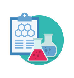 laboratory equipment icon chemistry and science vector image