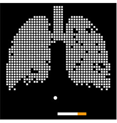 lungs and cigarette vector image