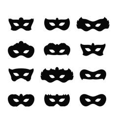 mardi gras masks icons vector image