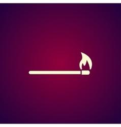 Match icon Flat vector