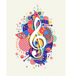 Music note icon g treble clef concept color shape vector