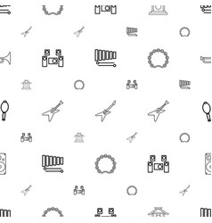 musical icons pattern seamless white background vector image