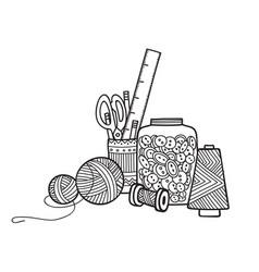 Needlework tools vector