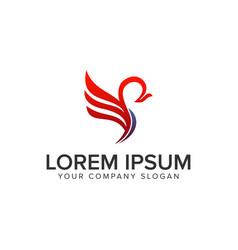 Phoenix logo design concept template vector