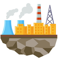Plant isolated on piece land construction vector