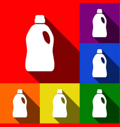 plastic bottle for cleaning set of icons vector image vector image