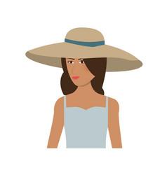 pretty happy woman icon image vector image