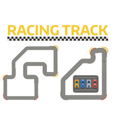 race car sport track curve road top view vector image