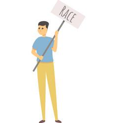 Race discrimination icon cartoon people vector