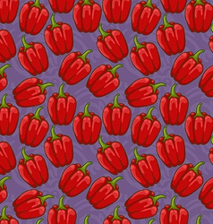 seamless cute shiny bell pepper pattern vector image