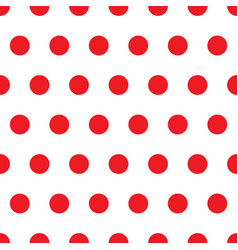 seamless minimal red round shape dot on white vector image