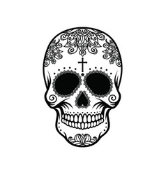 Skull in the style of santa marta vector