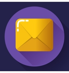 Small parcel package letter or mail flat icon vector