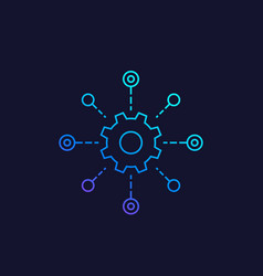 Software testing automation system line icon vector