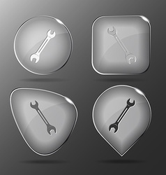 Spanner Glass buttons vector image