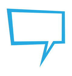 Speech balloon icon vector