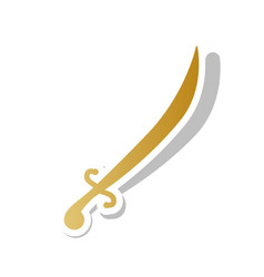 Sword sign golden gradient vector