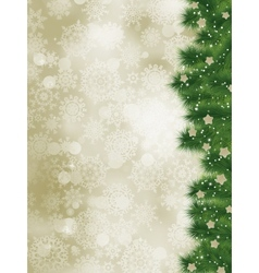 Thank you card on a elegant christmas card eps 8 vector