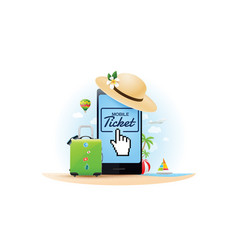 travel online ticket vector image