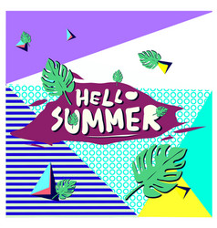 Trendy summer cards with floral elements vector