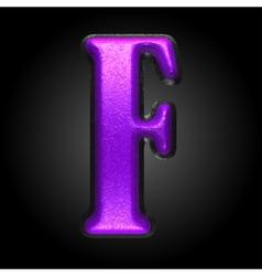 Violet plastic figure f vector