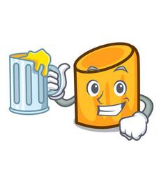 With juice rigatoni mascot cartoon style vector