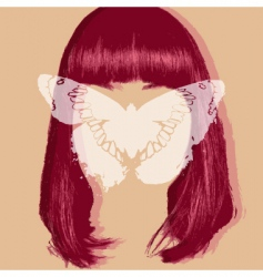 butterfly portrait vector image
