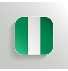 Button - Nigeria Flag Icon vector image vector image