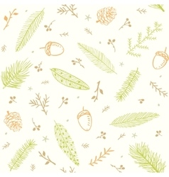 seamless pattern branches vector image vector image